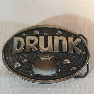 Oval metal belt buckle
